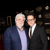 George Lucas and J.J. Abrams in the 'Star Wars: The Force Awakens' World Premiere