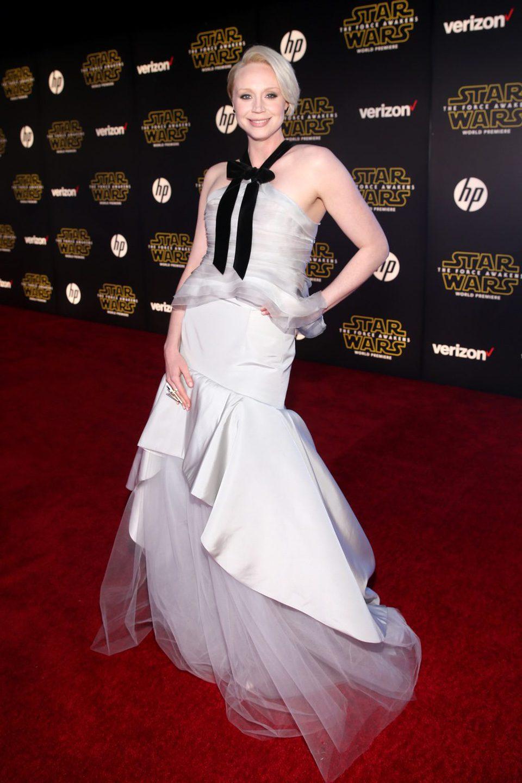 Gwendoline Christie in the 'Star Wars: The Force Awakens' world premiere