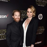Seth Green and Clare Grant in the 'Star Wars: The Force Awakens' World Premiere