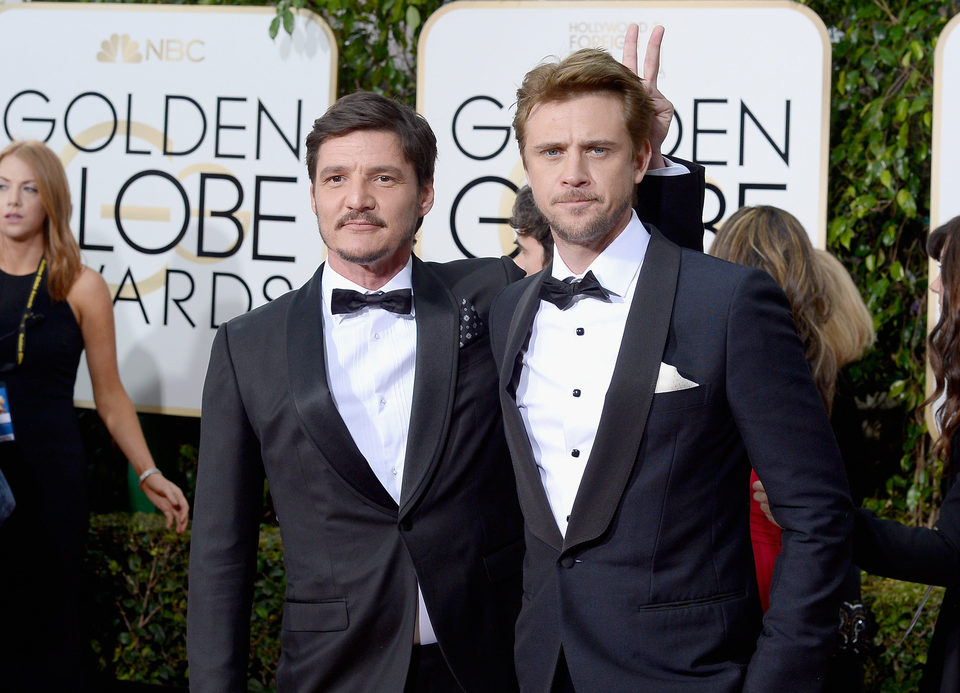 Pedro Pascal and Boyd Holbrook at the 2016 Golden Globes red carpet