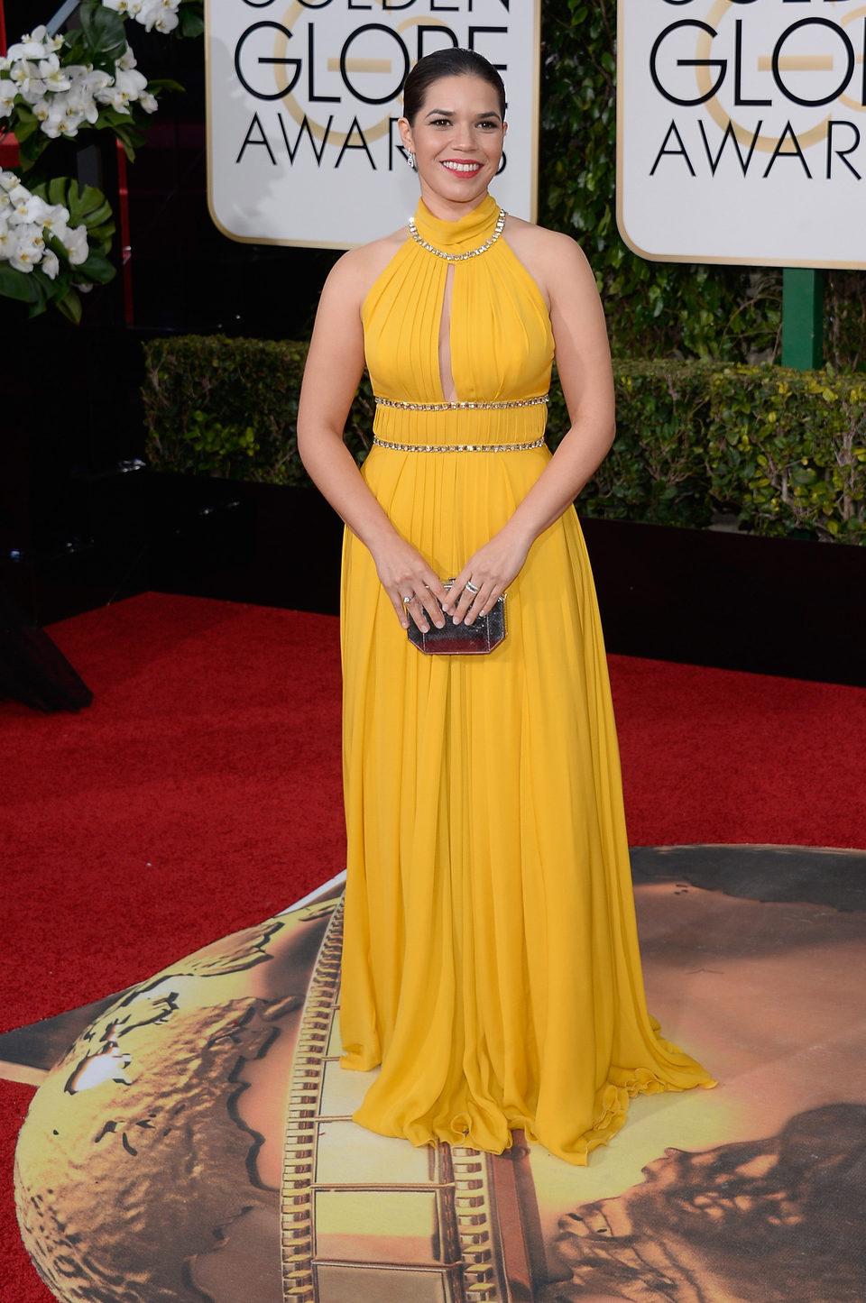 America Ferrera in the 2016 Golden Globes red carpet