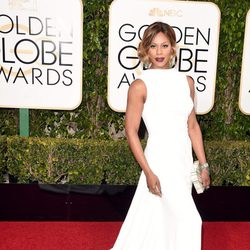 Laverne Cox at the 2016 Golden Globes red carpet