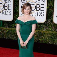 Rachel Bloom in the 2016 Golden Globes red carpet