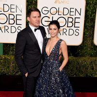 Channing Tatum and Jenna Dewan Tatum at the 2016 Golden Globes red carpet