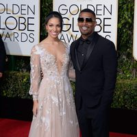 Jamie Foxx and Corinne Foxx at the 2016 Golden Globes red carpet