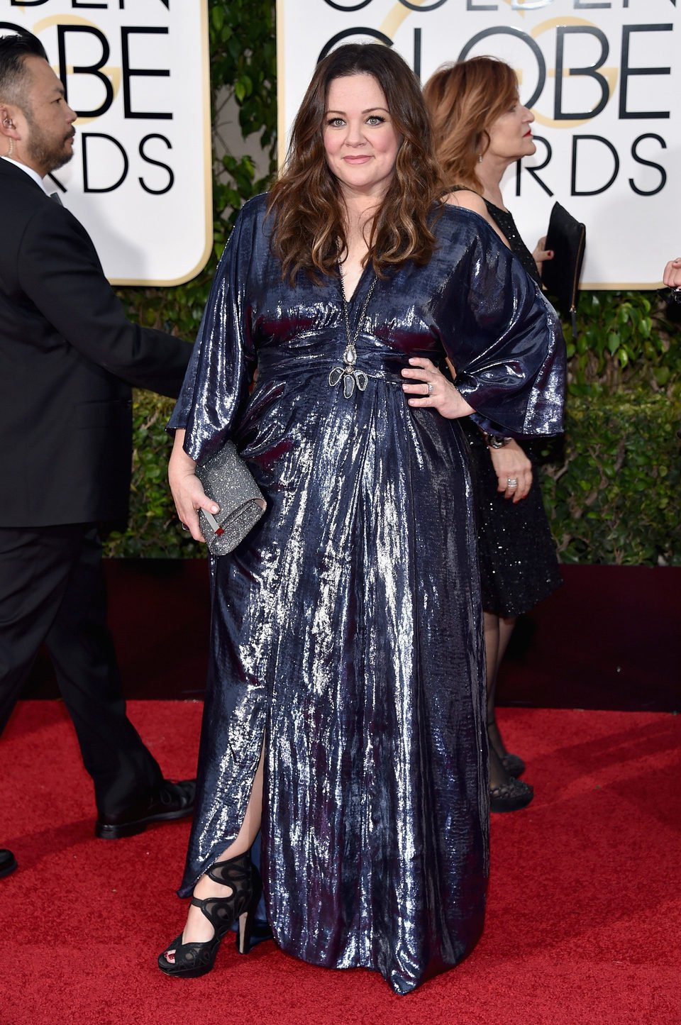 Melissa McCarthy in the 2016 Golden Globes red carpet