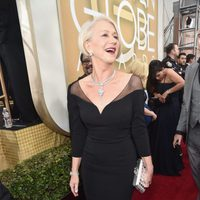 Helen Mirren in the 2016 Golden Globes red carpet