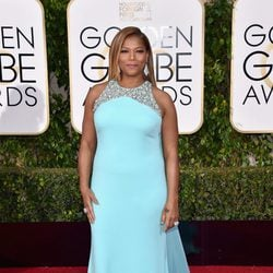 Queen Latifah in the 2016 Golden Globes red carpet