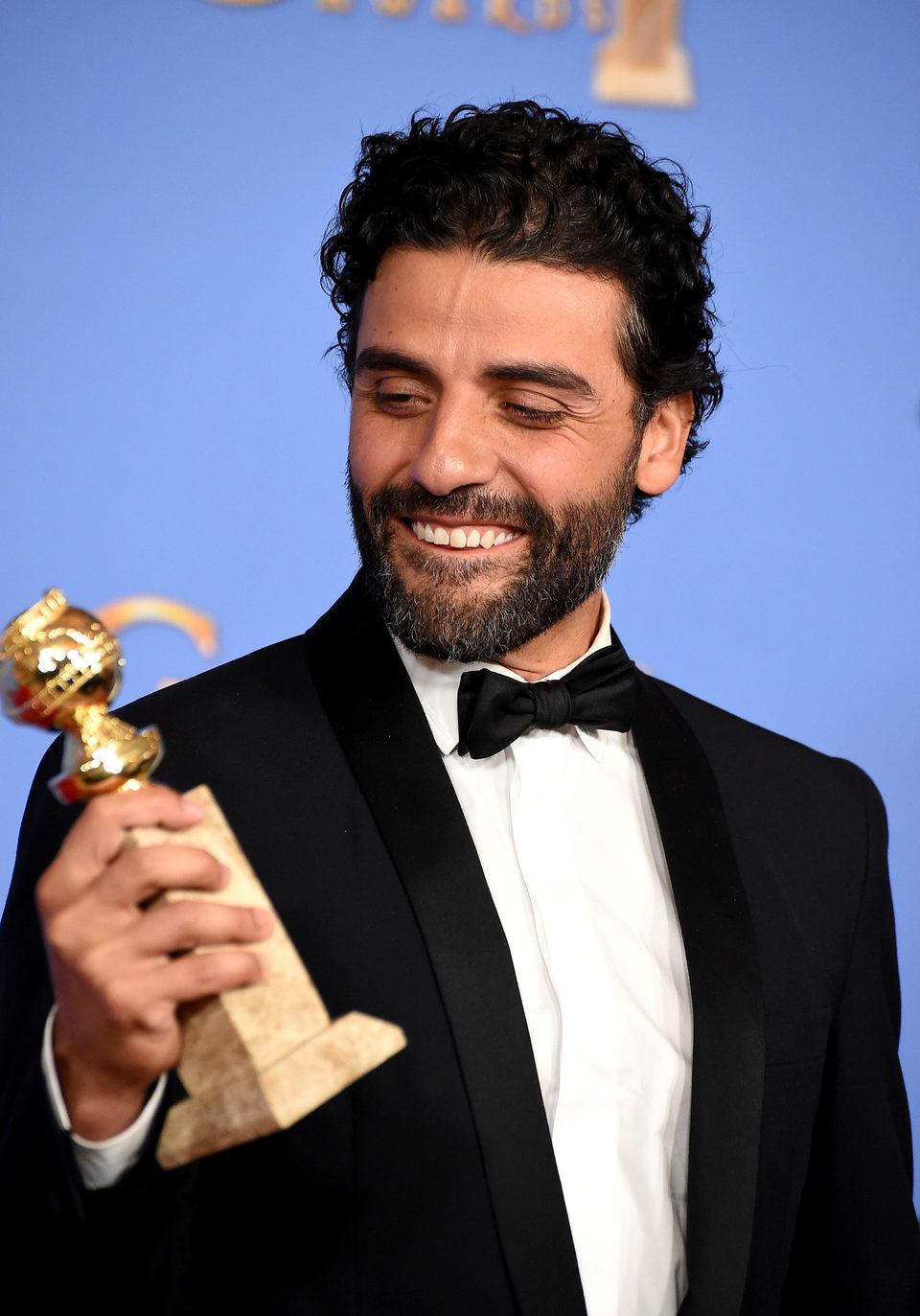 Oscar Isaac wins a Golden Globe Award for 'Show Me a Hero'