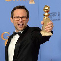 Christian Slater wins a Golden Globe for 'Mr. Robot'
