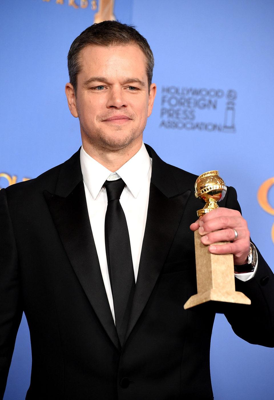 Matt Damon wins the Golden Globe for 'The Martian'