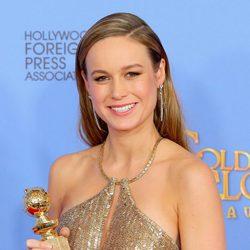 Brie Larson wins the Golden Globe for 'Room'