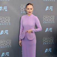 Laura Haddock at the 2016 Critics Choice Awards red carpet
