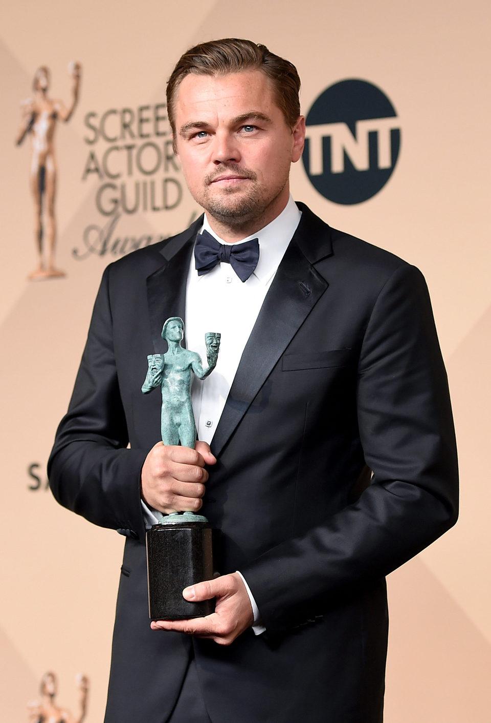 Leonardo DiCaprio, best actor at the SAG Awards 2016