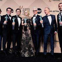 The 'Spotlight' cast with their awards at the SAG Awards 2016