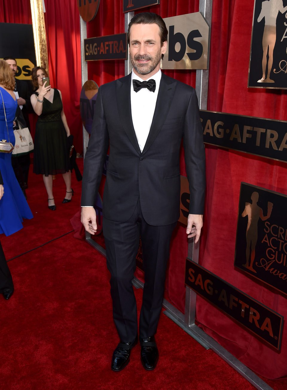 Jon Hamm in red carpet of 2016 SAG Awards