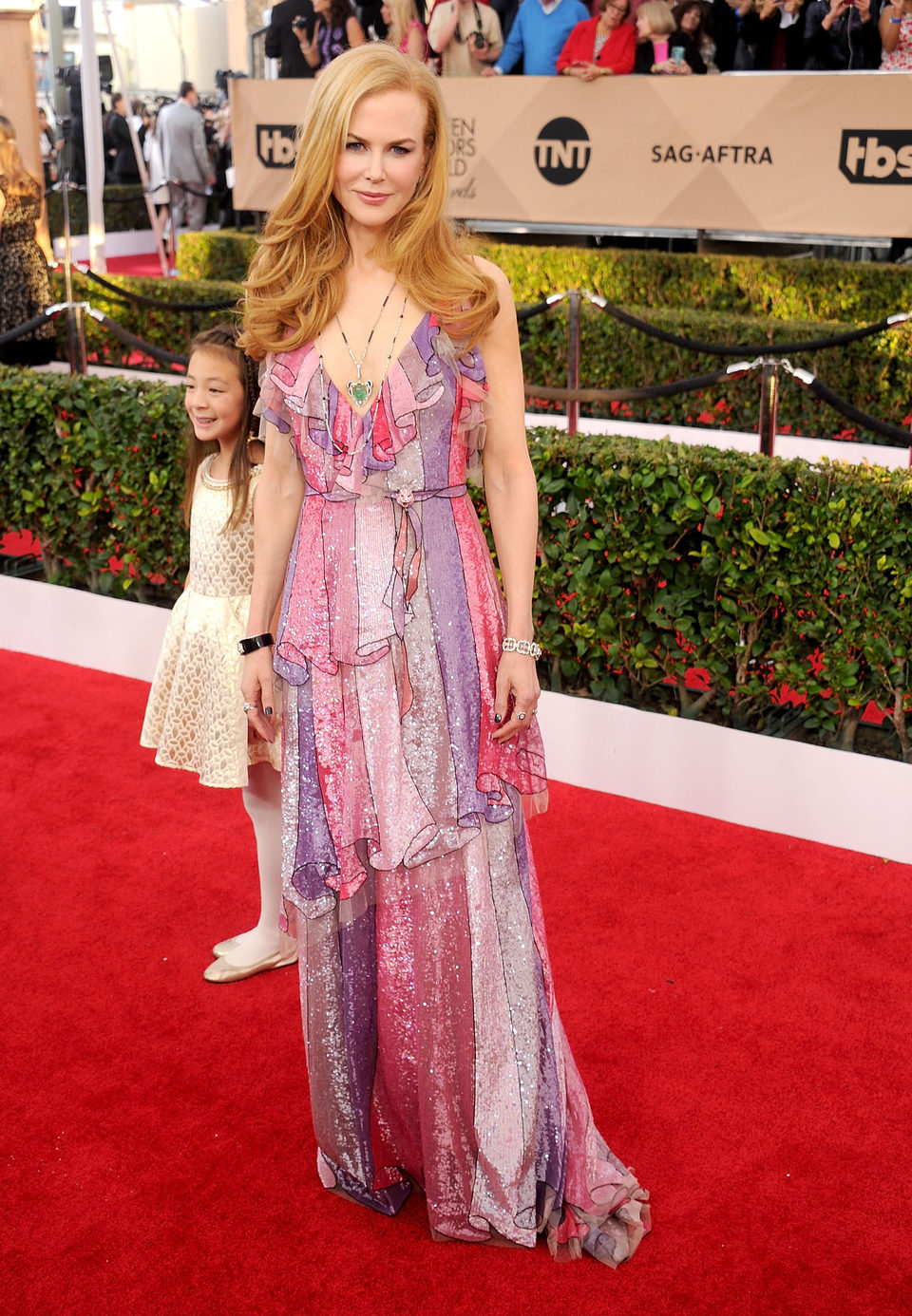 Nicole Kidman at the SAG Awards 2016 red carpet