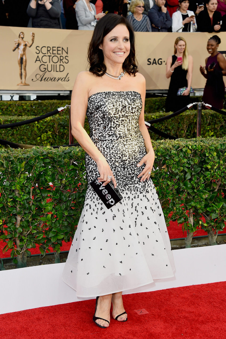 Julia Louis-Dreyfus in red carpet of SAG Awards 2016