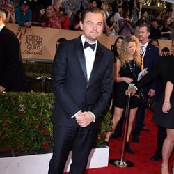 Leonardo DiCaprio at the SAG Awards 2016 red carpet