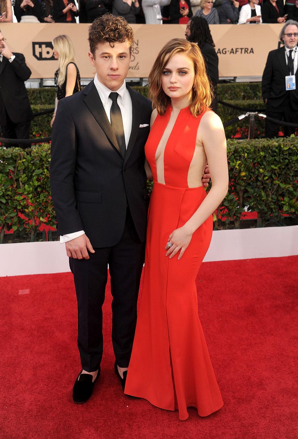 Nolan Gould and Joey King at the SAG Awards 2016 red carpet
