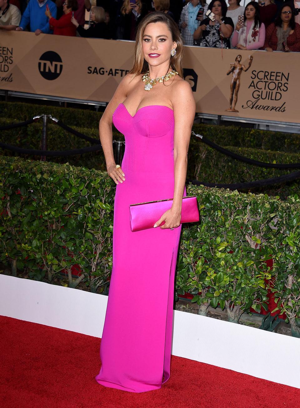 Sofia Vergara at the SAG Awards 2016 red carpet