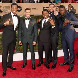 'Straight Outta Compton' cast in red carpet of SAG Awards 2016