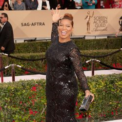 Queen Latifah in red carpet of SAG Awards 2016