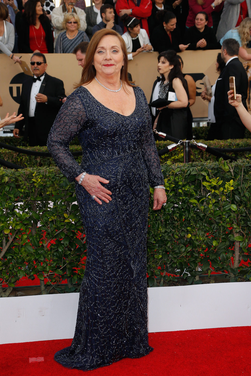 Dale Soules at the SAG Awards 2016 red carpet