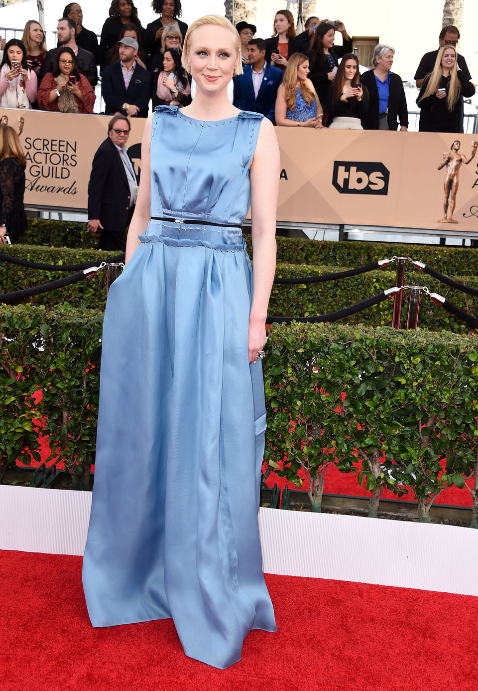 Gwendoline Christie at the SAG Awards 2016 red carpet