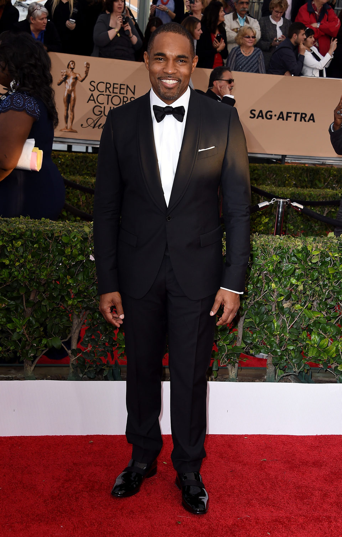 Jason George at the SAG Awards 2016 red carpet