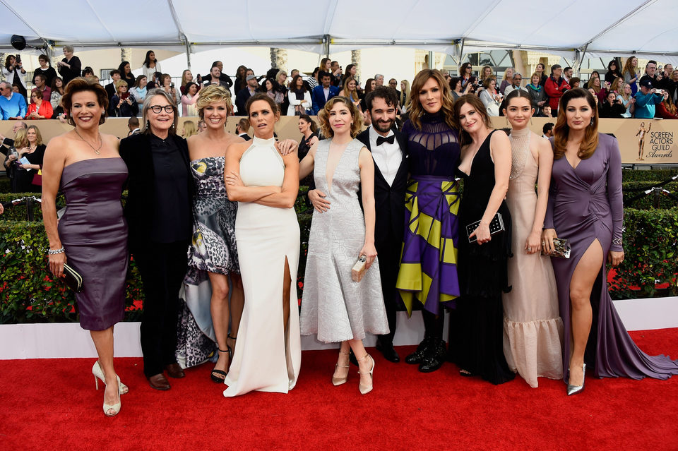 The cast of 'Transparent' at the SAG Awards 2016 red carpet