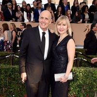 Jeffrey Tambor and Kasia Ostlun at the SAG Awards 2016 red carpet
