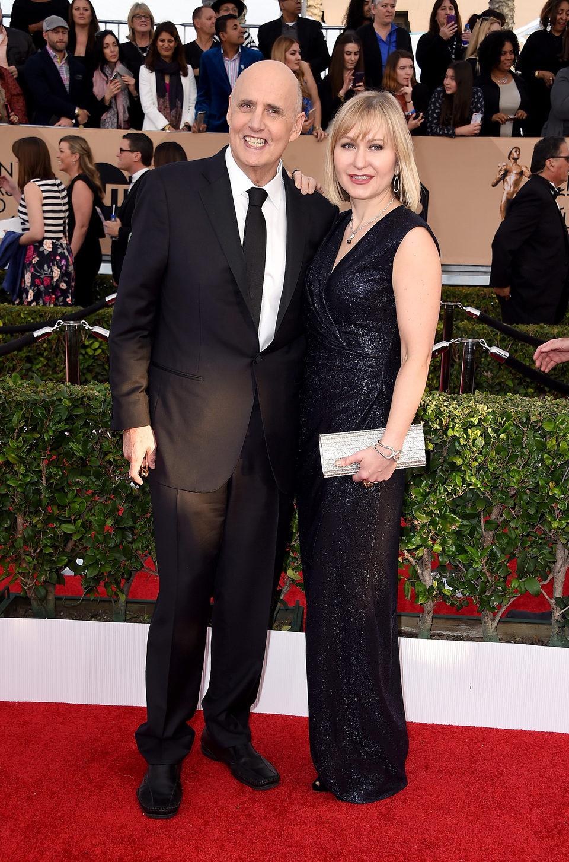 Jeffrey Tambor and Kasia Ostlun at the SAG Awards 2016 red carpet