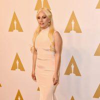 Lady Gaga at the Oscar 2016 nominees lucnheon