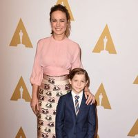 Brie Larson and Jacob Tremblay at the Oscar 2016 nominees luncheon