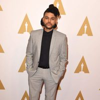 The Weeknd at the Oscar 2016 nominees luncheon