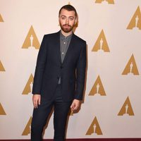 Sam Smith at the Oscar 2016 nominees luncheon