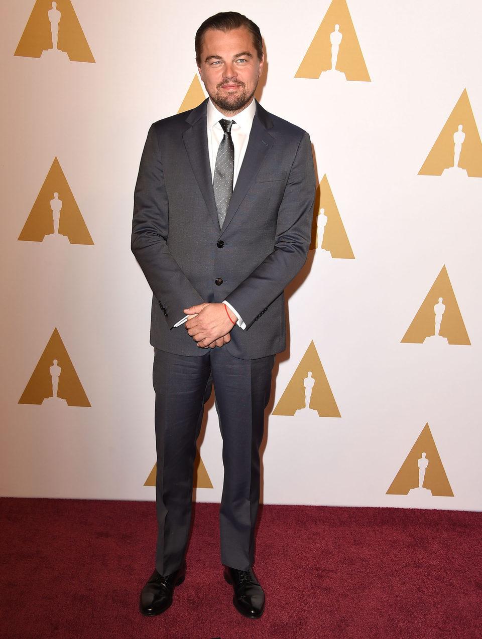 Leonardo DiCaprio at the Oscar 2016 nominees luncheon