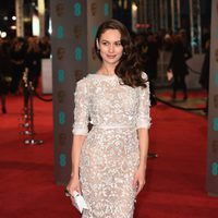 Olga Kurylenko at the 2016 BAFTA Awards' red carpet