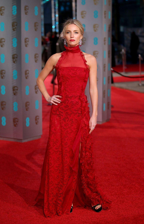 Annabelle Wallis at the 2016 BAFTA Awards' red carpet