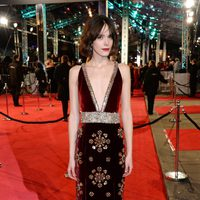 Stacy Martin at the 2016 BAFTA Awards' red carpet