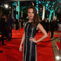 Alicia Vikander at the 2016 BAFTA Awards' red carpet