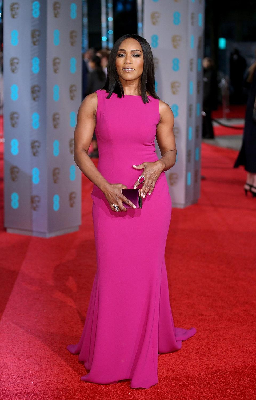 Angela Bassett at the 2016 BAFTA Awards' red carpet