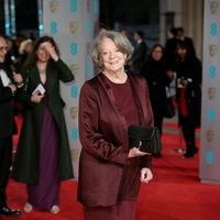Maggie Smith at the 2016 BAFTA Awards' red carpet