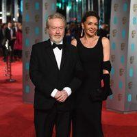 Ridley Scott at the 2016 BAFTA Awards' red carpet