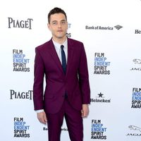 Rami Malek at 2016 Independent Spirit Awards red carpet