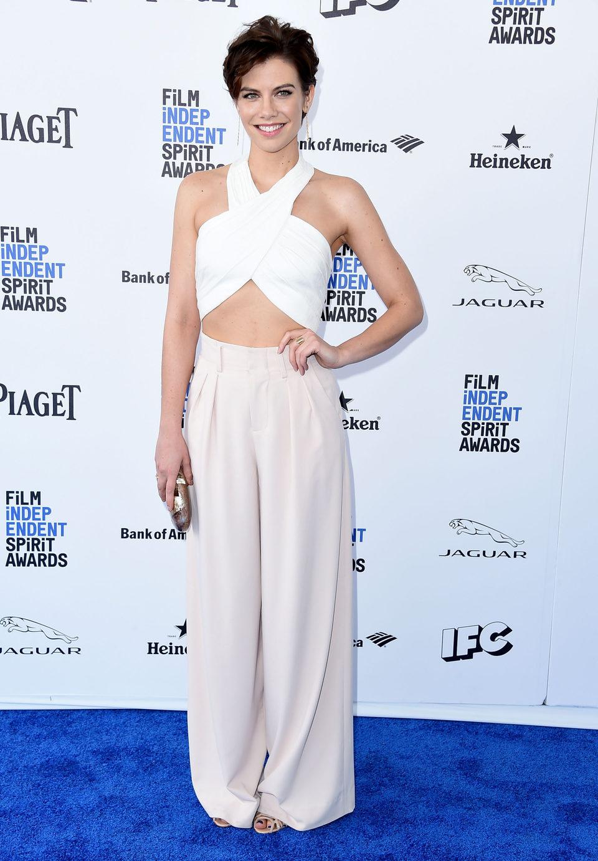 Lauren Cohan at 2016 Independent Spirit Awards red carpet