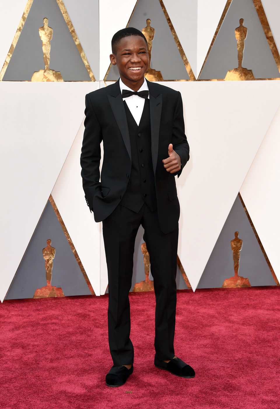Abraham Attah at the Oscars 2016 red carpet
