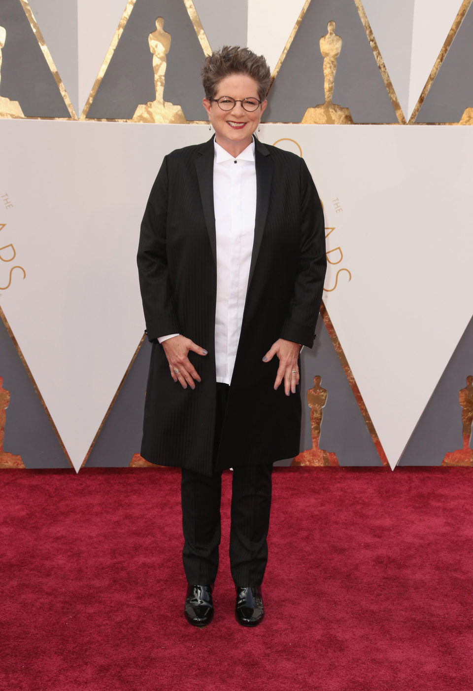 Phyllis Nagy at the Oscars 2016 red carpet