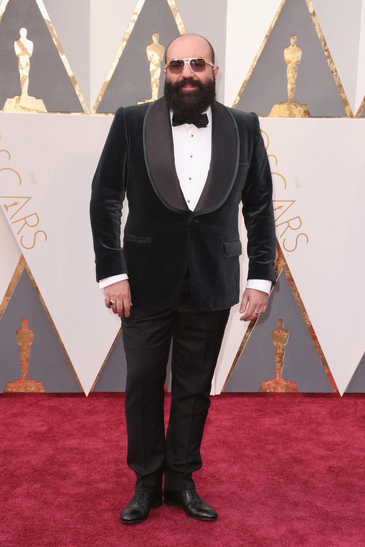Paco Delgado at the Oscars 2016 red carpet